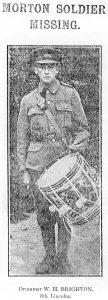 Drummer W H Brighton