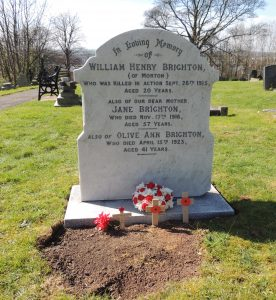Drummer William Henry Brighton's Restored Headstone