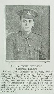 Private Cyril Hudson