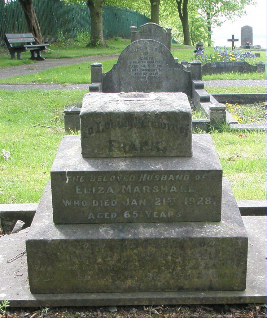 Lt. George Leonard Marshall's headstone before restoration