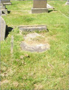 Private John (Jack) Samuel Wright's headstone before restoration