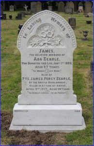 Private Searle's Headstone after restoration