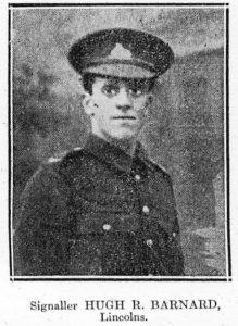 Private Signaller Hugh Barnard