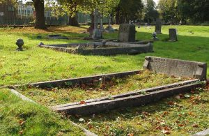 Private Wilfred Basil Bower's headstone before restoration