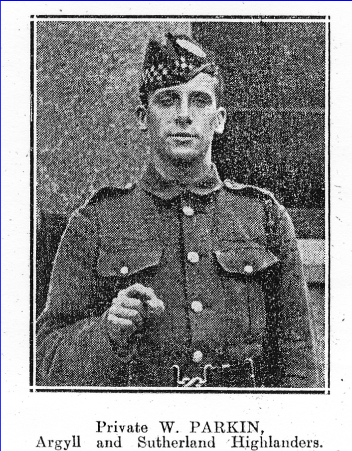 Private William Frank Parkin