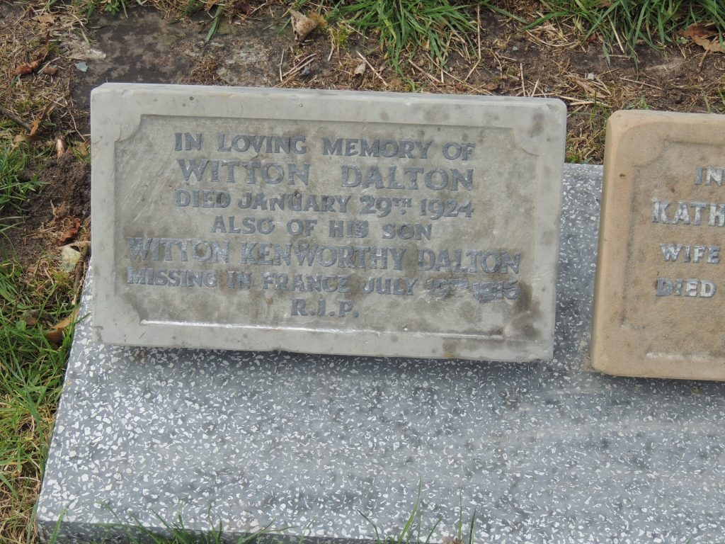 Private Witton Kenworthy Dalton